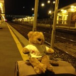 Under the light of a new moon, Hope Bear waits for a train to head westward to Imagine More with youth leaders from across Canada...stay tuned for further adventures...